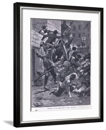 Fighting at the Barricade Ad 1847-Gordon Frederick Browne-Framed Giclee Print