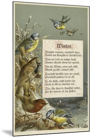 Winter--Mounted Giclee Print