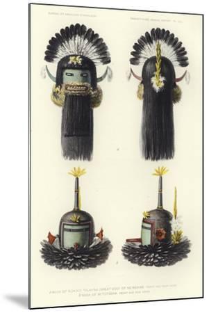 Mask of Kokko Thlanna--Mounted Giclee Print