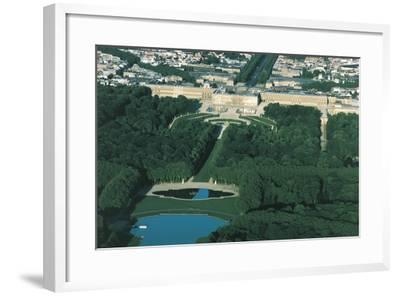 France, Aerial View of Palace of Versailles--Framed Photographic Print