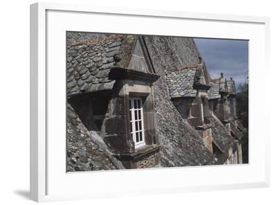 Roof Windows, Conros Castle--Framed Giclee Print