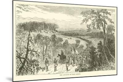The Advance on Port Gibson, April 1863--Mounted Giclee Print