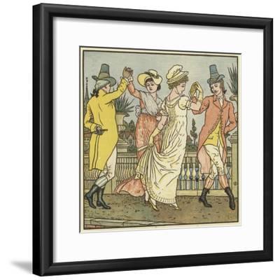 Sur Le Pont D'Avignon-Walter Crane-Framed Giclee Print