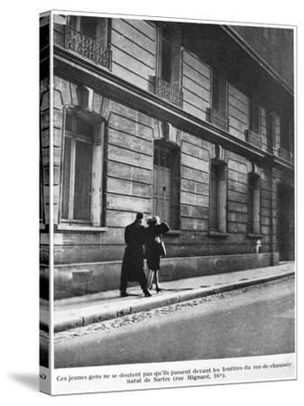 Birthplace of Jean-Paul Sartre--Stretched Canvas Print