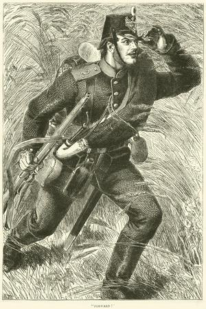 """""""Forward!"""", October 1870--Framed Giclee Print"""