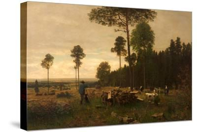 The Edge of a Bavarian Forest, Germany, 1874-Carl Irmer-Stretched Canvas Print