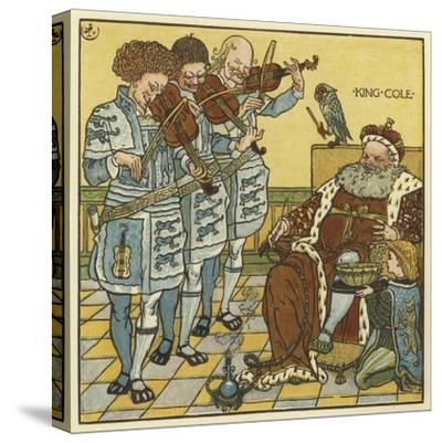 King Cole-Walter Crane-Stretched Canvas Print