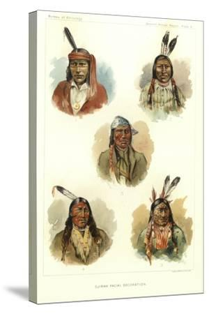 Ojibwa Facial Decoration--Stretched Canvas Print