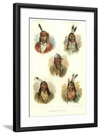 Ojibwa Facial Decoration--Framed Giclee Print