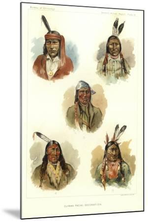 Ojibwa Facial Decoration--Mounted Giclee Print