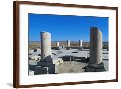Ruins of Royal Palace of Cyrus Great, Pasargad--Framed Photographic Print