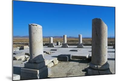 Ruins of Royal Palace of Cyrus Great, Pasargad--Mounted Photographic Print