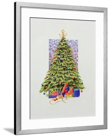 Christmas Tree--Framed Giclee Print