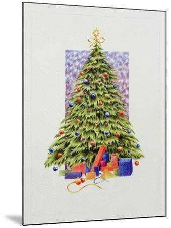 Christmas Tree--Mounted Giclee Print