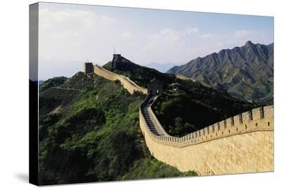 Segment of Great Wall, 1505, in Badaling--Stretched Canvas Print