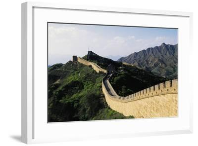 Segment of Great Wall, 1505, in Badaling--Framed Photographic Print