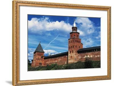 View of City Wall with Kokuj Tower--Framed Giclee Print