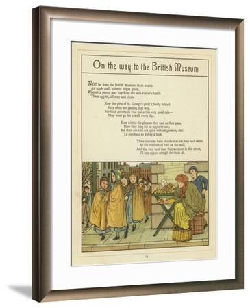On the Way to the British Museum-Thomas Crane-Framed Giclee Print