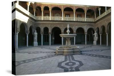 Patio, Pilate's House--Stretched Canvas Print