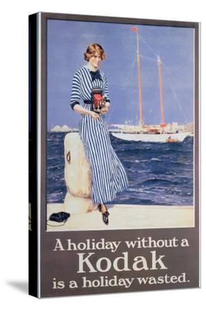 Poster Advertising Kodak Cameras, C.1930--Stretched Canvas Print