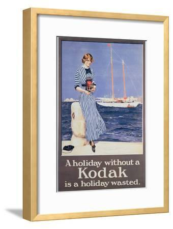 Poster Advertising Kodak Cameras, C.1930--Framed Giclee Print