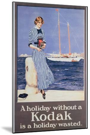 Poster Advertising Kodak Cameras, C.1930--Mounted Giclee Print