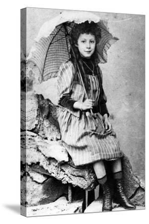 Marie Laurençin as a Child, C.1903--Stretched Canvas Print