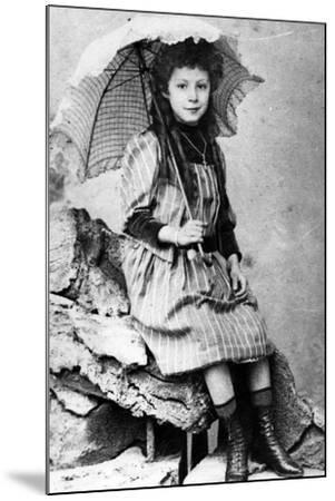 Marie Laurençin as a Child, C.1903--Mounted Photographic Print