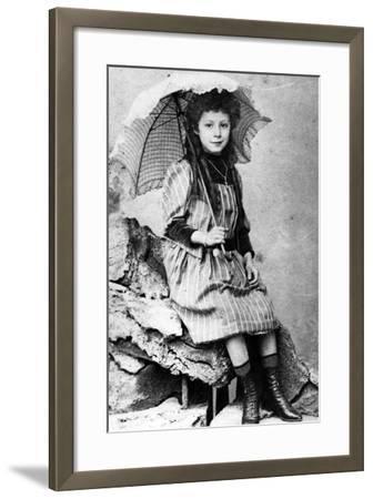 Marie Laurençin as a Child, C.1903--Framed Photographic Print