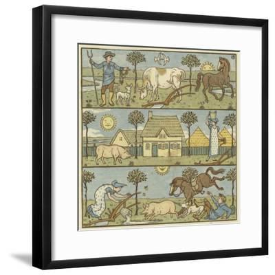 Once There Lived a Little Man-Walter Crane-Framed Giclee Print