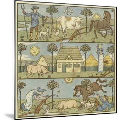 Once There Lived a Little Man-Walter Crane-Mounted Giclee Print