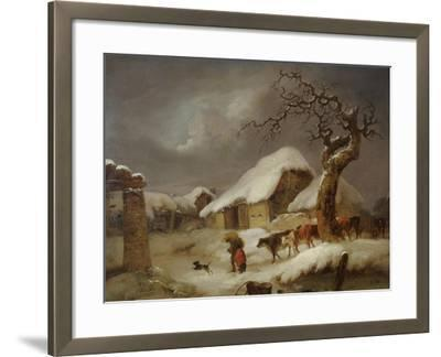 Snow in the Farmyard, 1812-Joseph Rhodes-Framed Giclee Print