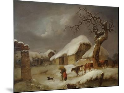 Snow in the Farmyard, 1812-Joseph Rhodes-Mounted Giclee Print
