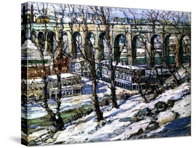 High Bridge on the Harlem River, Usa, C.1907-Edwin H. Gunn-Stretched Canvas Print