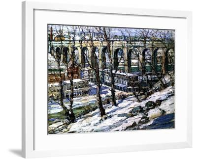 High Bridge on the Harlem River, Usa, C.1907-Edwin H. Gunn-Framed Giclee Print