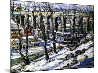 High Bridge on the Harlem River, Usa, C.1907-Edwin H. Gunn-Mounted Giclee Print