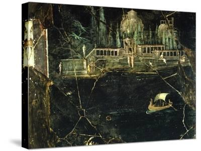 Fresco Depicting a Landscape, from Pompeii--Stretched Canvas Print