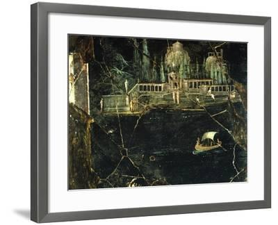 Fresco Depicting a Landscape, from Pompeii--Framed Photographic Print