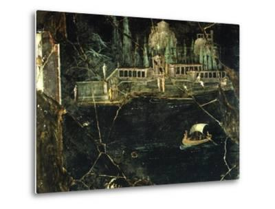 Fresco Depicting a Landscape, from Pompeii--Metal Print