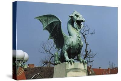 Dragon-Jurij Zaninovic-Stretched Canvas Print