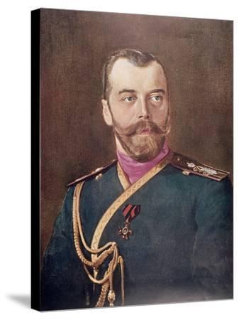 Portrait of Tsar Nicholas II--Stretched Canvas Print