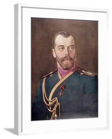 Portrait of Tsar Nicholas II--Framed Giclee Print