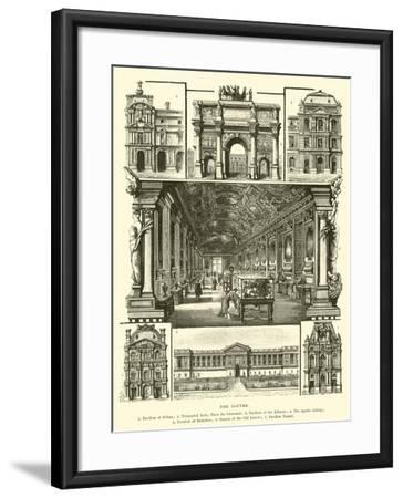 The Louvre--Framed Giclee Print