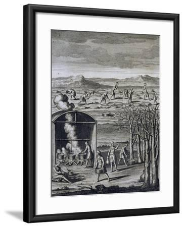 Daily Life in Tribe-Joseph-Francois Lafitau-Framed Giclee Print