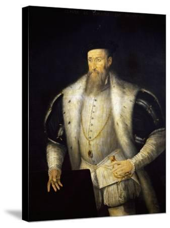Portrait of Claudio I of Lorraine--Stretched Canvas Print