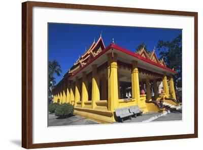The Buddhist Wat Mixai Temple in Vientiane--Framed Photographic Print