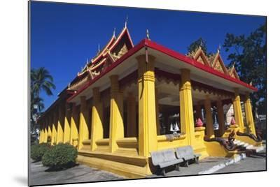 The Buddhist Wat Mixai Temple in Vientiane--Mounted Photographic Print