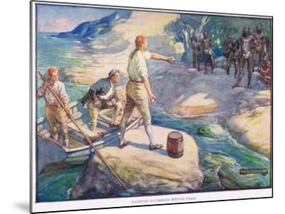 Natives Gathered Round Them-Joseph Ratcliffe Skelton-Mounted Giclee Print