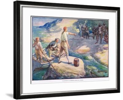 Natives Gathered Round Them-Joseph Ratcliffe Skelton-Framed Giclee Print