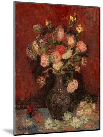 Vase with Chinese Asters and Gladioli-Vincent van Gogh-Mounted Giclee Print